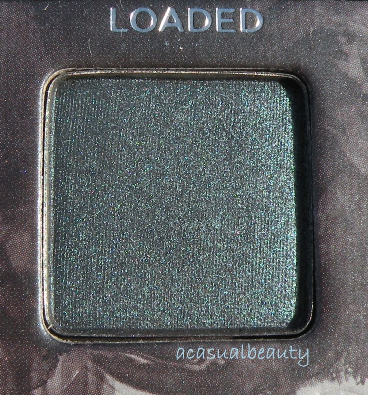 Shimmery Blackened Deep Green